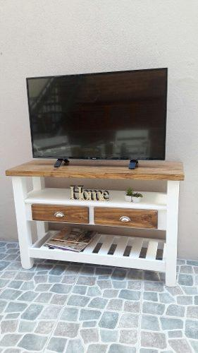 Arrime mueble rack tv lcd plasma 1,20 m rústica estilo