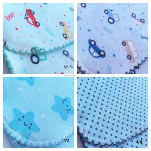 Babitas de doble algodon con picot para bebes set x 4 unid