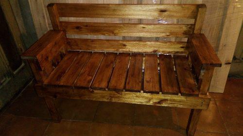 Banco sillon de madera