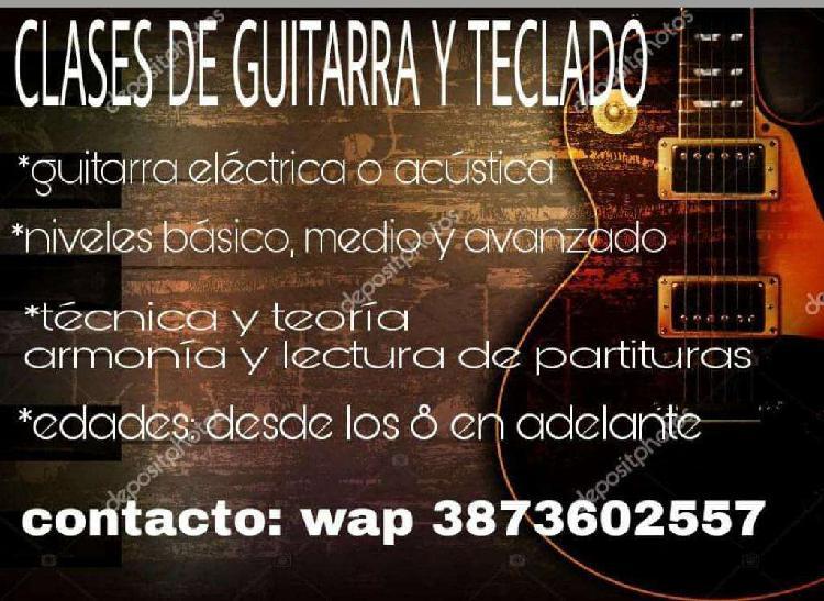 Clases de Guitarra Y Teclado