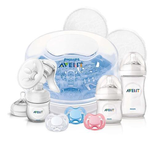 Combo avent sacaleche+mamaderas 125/260ml+chup+ester+protect
