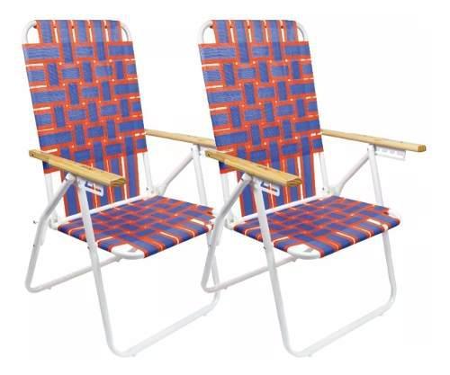 Combo reposera caño x2 sillón plegable 5 posiciones 20002
