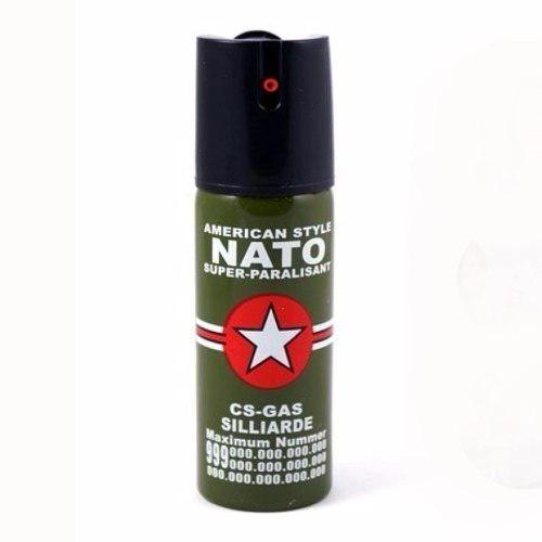Gas pimienta lacrimogeno nato cs gas defensa con seguro
