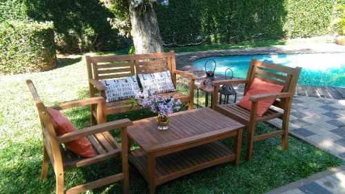 Juego de sillones y mesa ratona de jardin. apto exterior