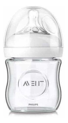 Mamadera avent natural glass vidrio de 120 ml
