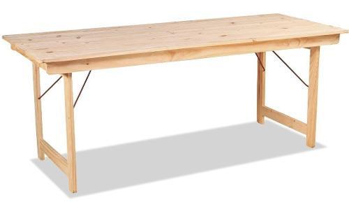 Mesa de madera pino 1.50x0.75 plegable quincho interior