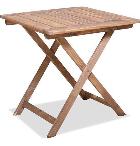 Mesa de madera pino plegable 75x75 tipo bar c/impregnante
