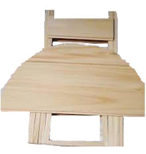 Mesa de madera plegable matera redonda