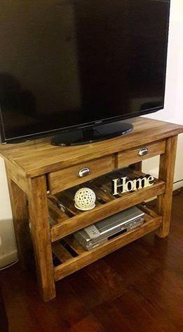 Mesa mueble arrime rack tv lcd plasma rústica estilo campo
