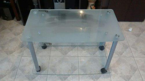 Mesa rack vidrio templado tv lcd plasma