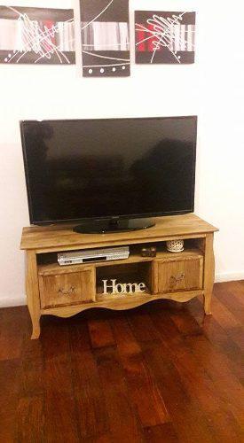 Mesa tv lcd plasma 1,20m pino rústica patinada estilo campo