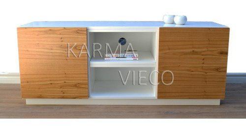 Mueble tv lcd mesa plasma laqueado rack puertas paraiso