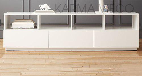 Mueble tv lcd mesa plasma modular laqueado rack cajones 180