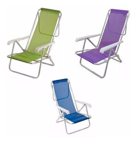Reposera silla aluminio 8 posiciones playa camping
