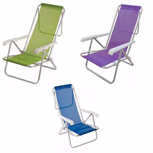 Reposera silla aluminio 8 posiciones playa camping sannet