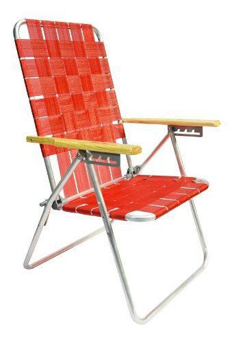 Reposera silla aluminio descansar 5 pos cintas plasticas