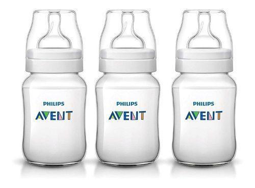 Set 3 mamadera avent classic de 260 ml punto bebe