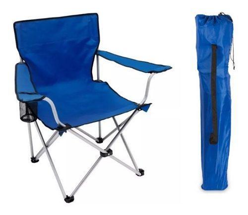 Silla director plegable playa camping apoya brazos portavaso