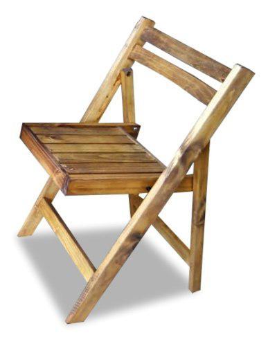 Silla plegable de madera pino con impregnante - eventos