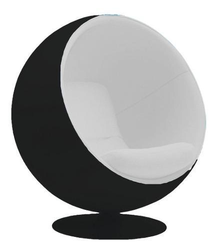 Sillón ball negro (fibra de vidrio)