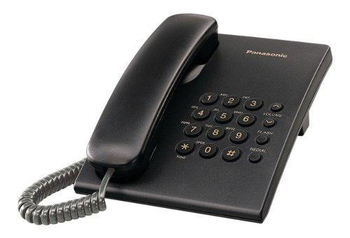 Telefono panasonic kx ts 500-mesa/pared-garantia 1 año.-
