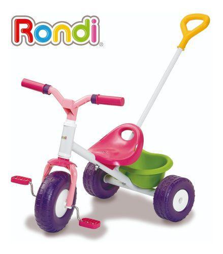 Triciclo con manija infantil rondi little trike nena