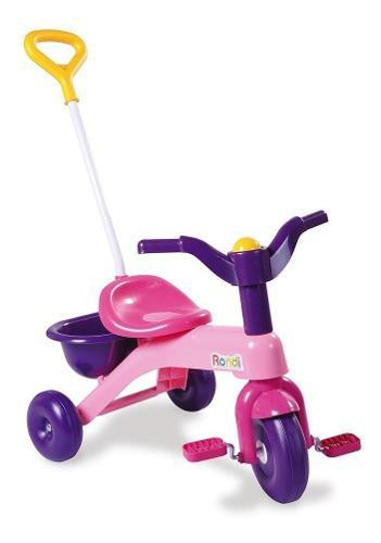 Triciclo infantil bebes rondi mi primer triciclo rosa caja
