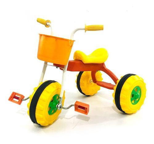 Triciclos infantiles nene nena canasto y apoya pie mipong