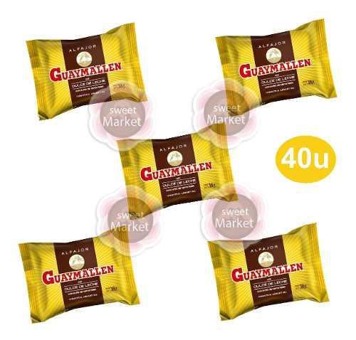 Alfajor guaymallen x 40u chocolate y leche - sweet market