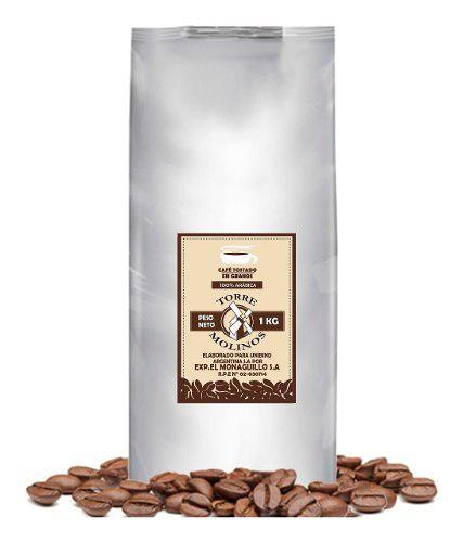 Café tostado en granos 1kg origen colombia- maquinas