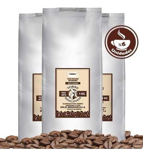 Café tostado en granos colombia maquinas express caja x 6u