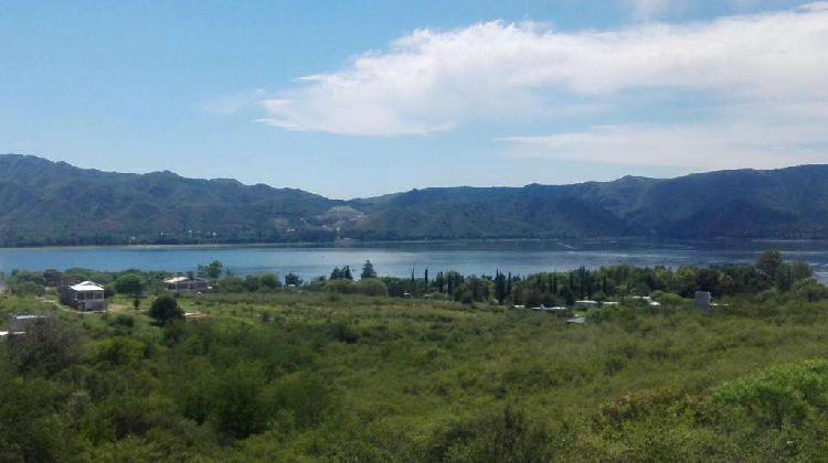 Dos lotes 1700 mts con la mejor vista lago carlos paz