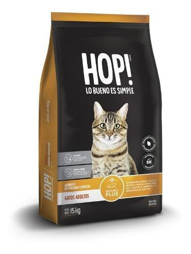 Hop! alimento balanceado para gatos adultos 15+2 kg d regalo