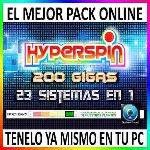 Hyperspin 200gb 23 Sistemas Mame Ps2 Gamecube Etc - Digital