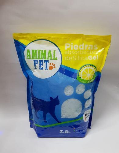 Piedras sanitarias silica gel limon animal pet x 3.8 lts