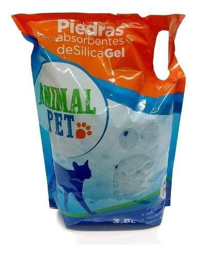 Piedras sanitarias silica gel neutras animal pet x 3.8 lts