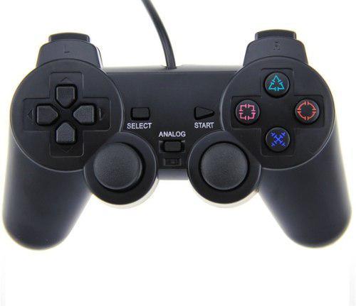 Ps2 control joystick analogico gamer juegos fifa pes