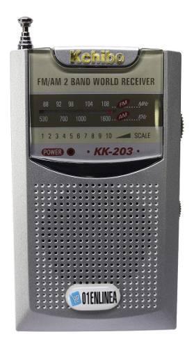 Radio portatil am fm bolsillo mano 2 bandas salida auricular