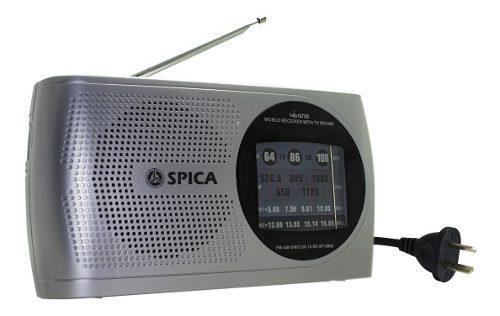 Radio portatil spica sp5860 retro am/fm dual bandas pilas