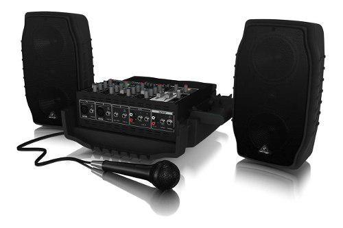 Sistema de sonido portatil behringer ppa200 200w 5 canales