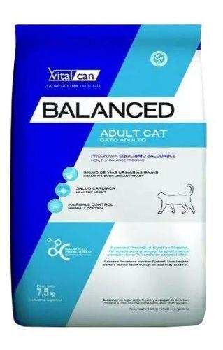 Vital cat balanced adulto 7.5 kg gatos adultos el molino