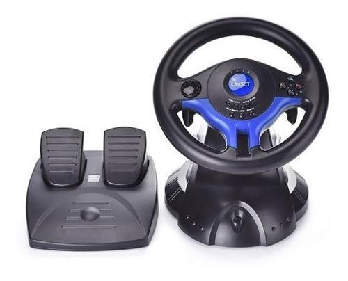 Volante gamer + pedales ps2 ps3 y pc vibracion playstation