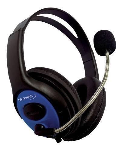 Headset auriculares netmak 7.1 ps4 vita celu tablet furious