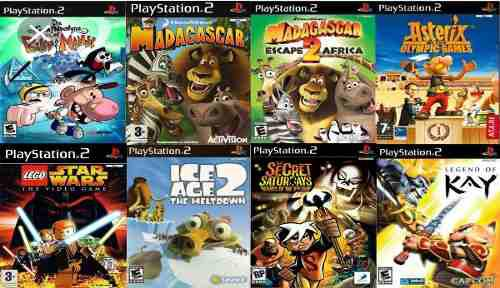 Juegos infantiles para play 2 (8 en total) lote ps2 vol 2