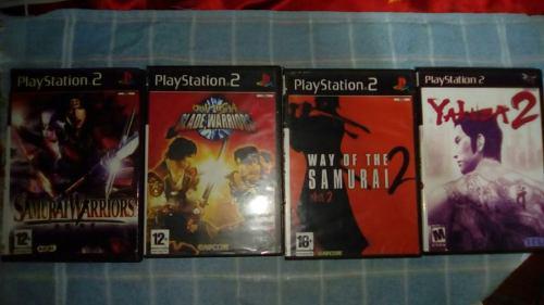 Juegos ps2. combo de 4 juegos. samurai