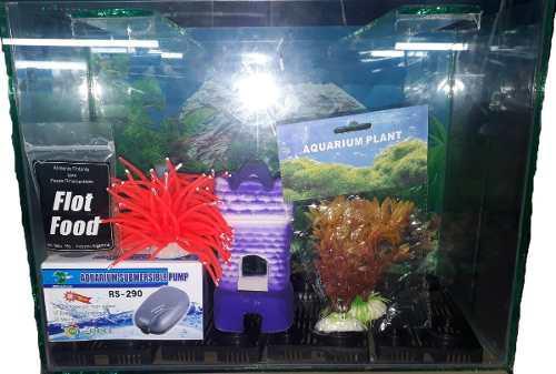 Kit pecera completa 70x35x20 49 litros filtro de regalo!!!