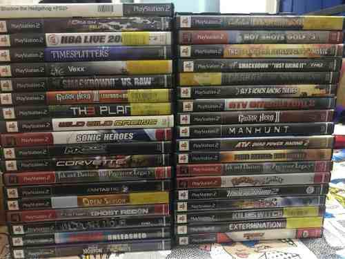 Lote de 35 juegos games ps2 originales con caja y manual