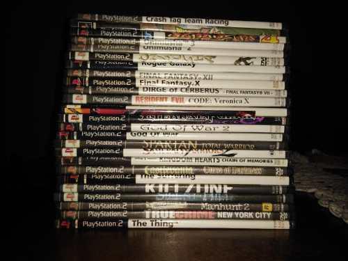 Lote x25 juegos ps2 playstation 2