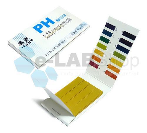 Pack 80 tiras de ph 0 - 14 - pehachímetro phmetro medidor