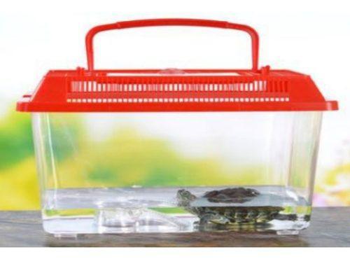 Pecera plastico para animales pequeños 22x14x15cm